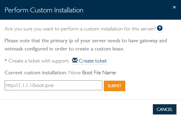 Installing servers using your own PXE boot environment - Knowledge Base