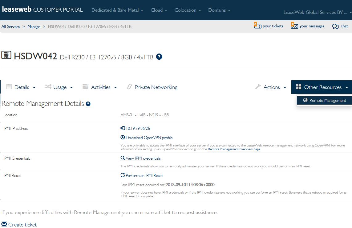 Server Management: Remote Management - Knowledge Base
