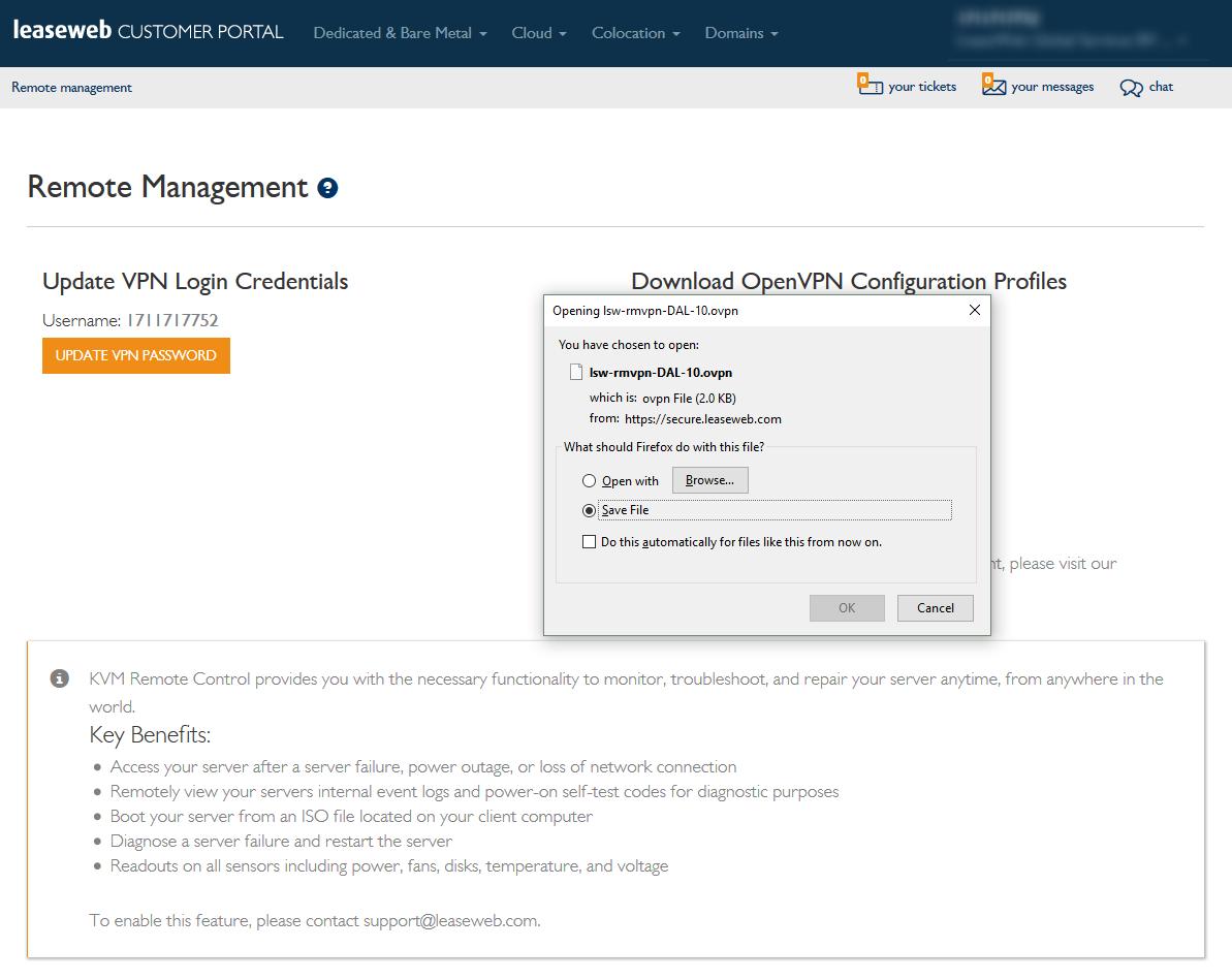 Remote Management: Dedicated & Bare Metal Server - Knowledge Base