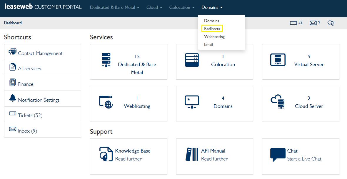 Redirecting domains - Knowledge Base